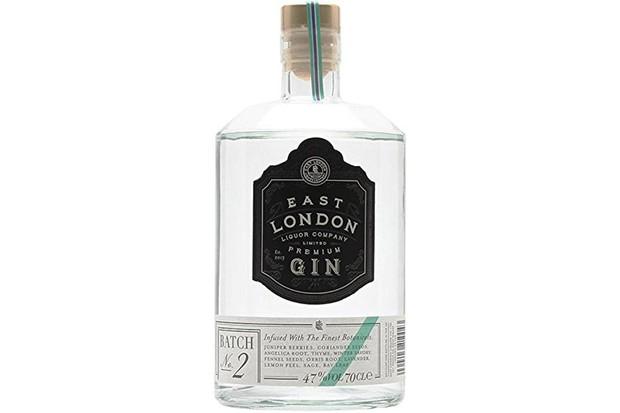 East London Liquor Company Gin Bottle