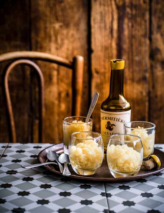 Apple Granita Recipe with Calvados (Calvados and Apple Granite)