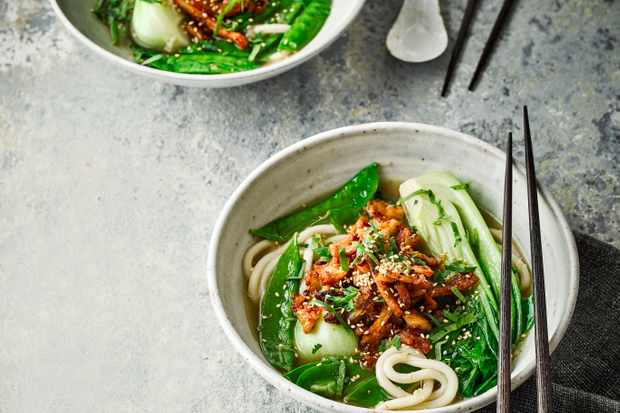 Chicken Noodle Soup Recipe with Miso and Chilli