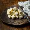Homemade Paneer on a wooden board