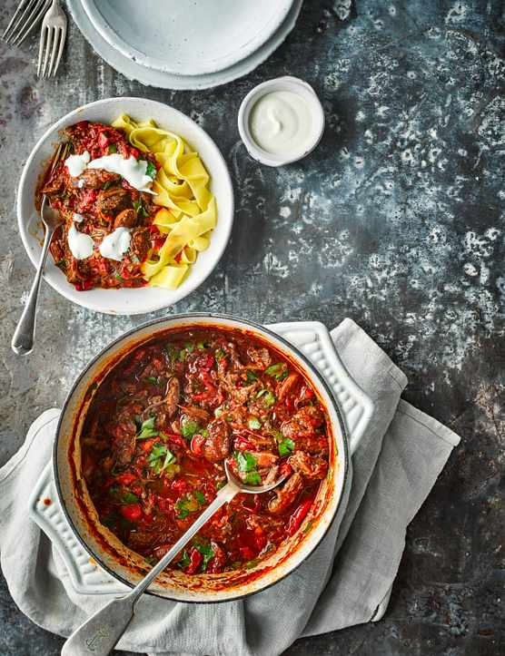 Pork Goulash Recipe with Pig Cheeks