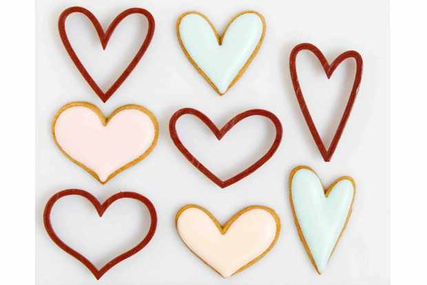 Rustic hearts cookie cutter set 3D Cookie Cutter Shop