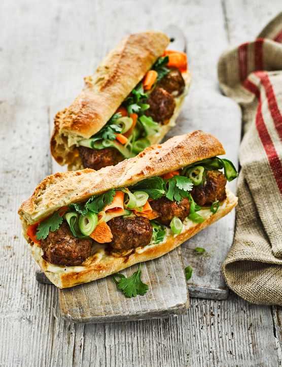 Bánh Mì Recipe with Pork Meatballs