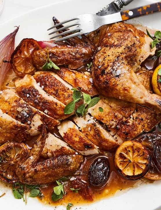One Pot Chicken Recipe with Lemon and Dates
