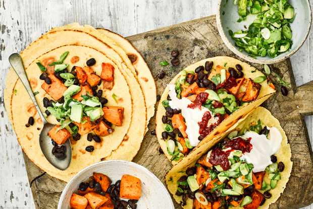 Sweet Potato and Black Bean Tacos Recipe