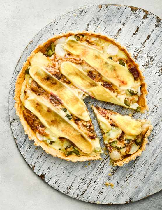 French Tartiflette Tart Recipe with Shortcrust Pastry