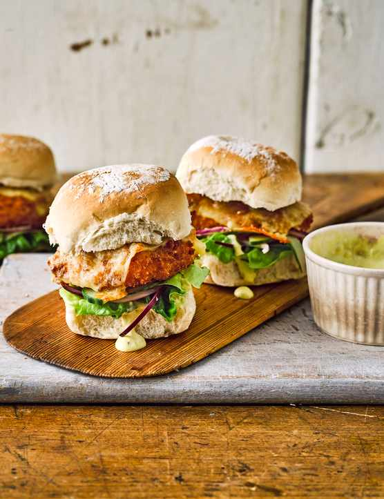 Crispy Fish Sandwich Recipe with Spicy Tartare Sauce