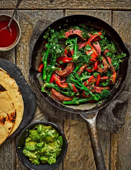 Sirloin Steak Fajitas Recipe with Broccoli