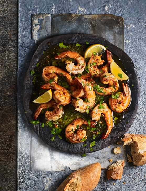 Creamy Butter Garlic Prawns Recipe with Cumin