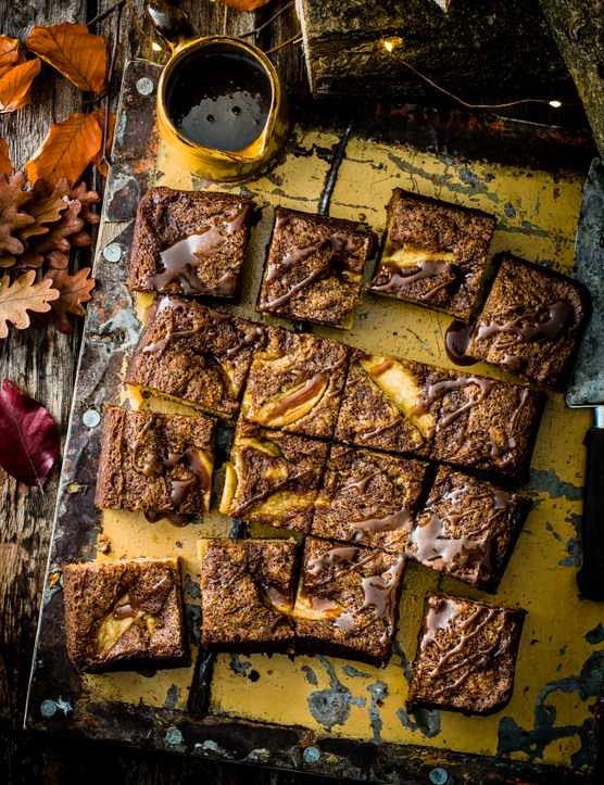 Toffee Apple Tray Bake Recipe with Ginger