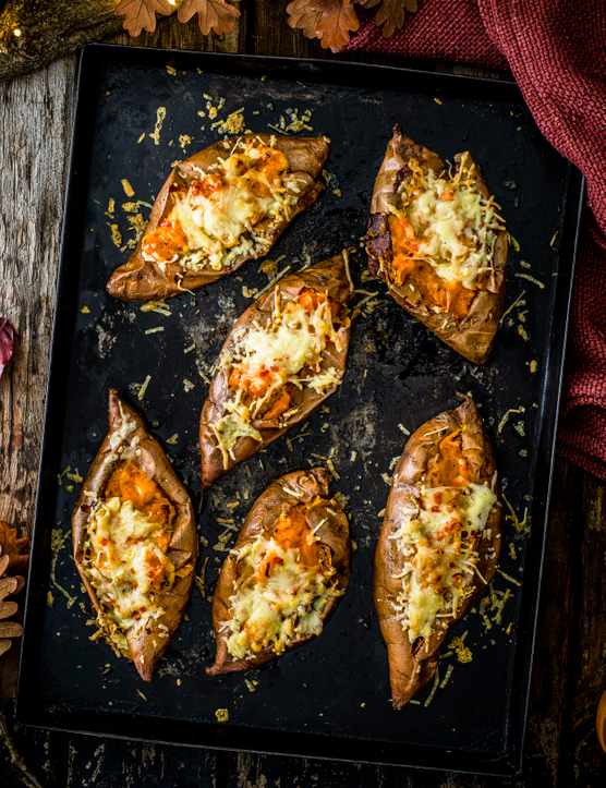 Sweet Potato Jacket Potato Recipe with Rosemary, Garlic and Chilli