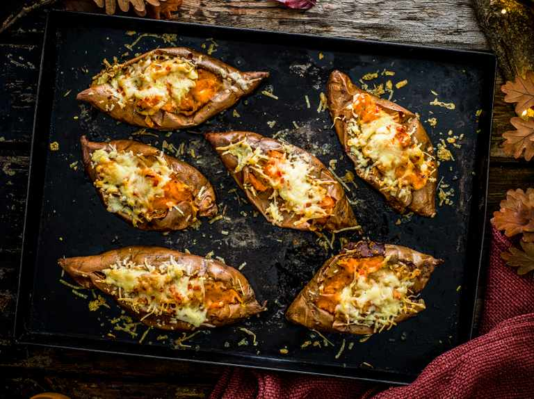 Sweet potato melts with rosemary, garlic and chilli