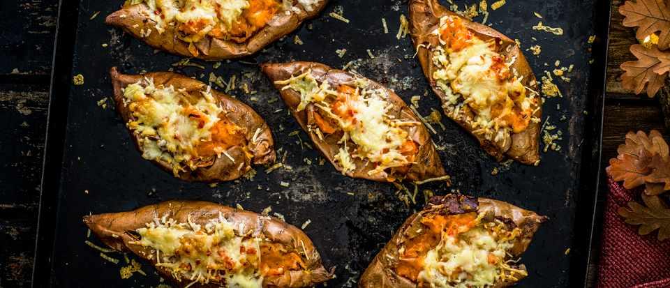 Sweet Potato Jacket Potato Recipe with Rosemary, Garlic and Chilli