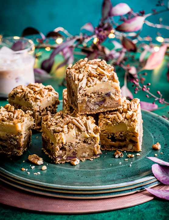 Pecan Blondies Recipe with Baileys