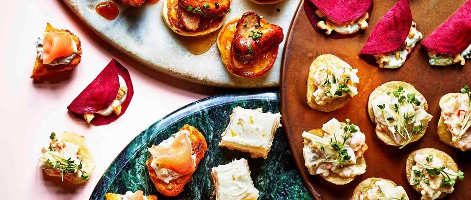 30 Easy Christmas Canapes Recipes And Party Food Olivemagazine,Upper Corner Kitchen Cabinet Storage Ideas