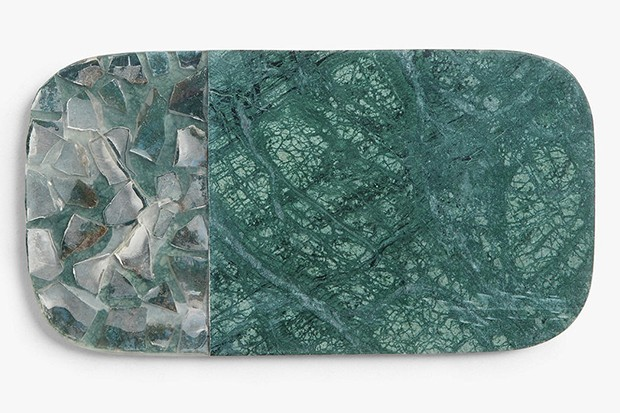 A green marble board