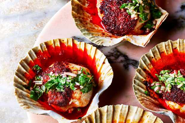 Grilled Scallops Recipe with 'Nduja Butter