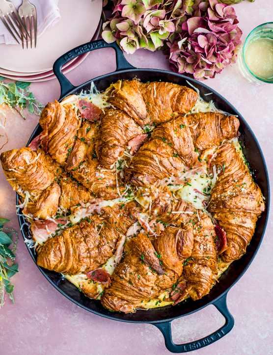 Ham and Cheese Croissant Bake Recipe