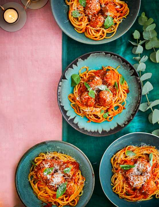 Turkey Meatballs Recipe with Spaghetti