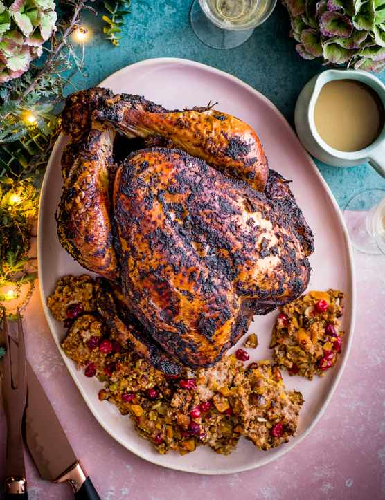 Jerk Turkey Recipe with Stuffing and Gravy