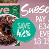 olive Christmas subscription deal with a picture of the mag