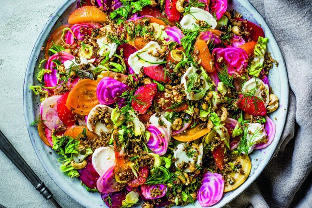 Beetroot Salad Recipe with Goat's Cheese