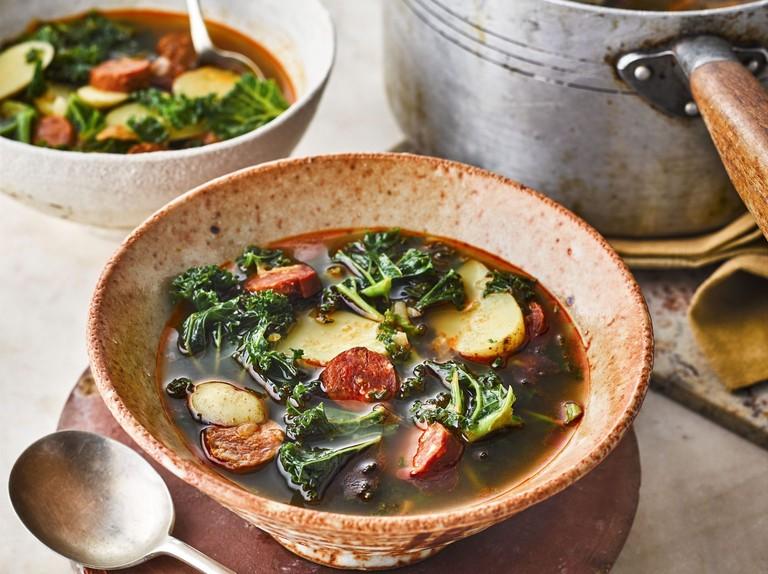Caldo verde (kale, chorizo and potato soup)