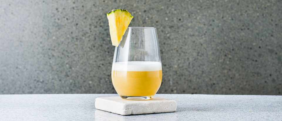 Pineapple whisky sour
