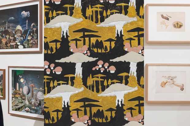 Trois œuvres d'art liées aux champignons