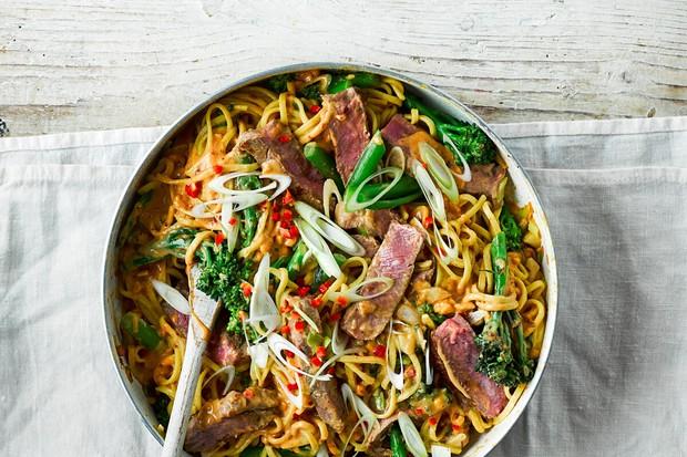 """Steak satay noodles """"title ="""" Steak satay noodles """"/>   <div class="""