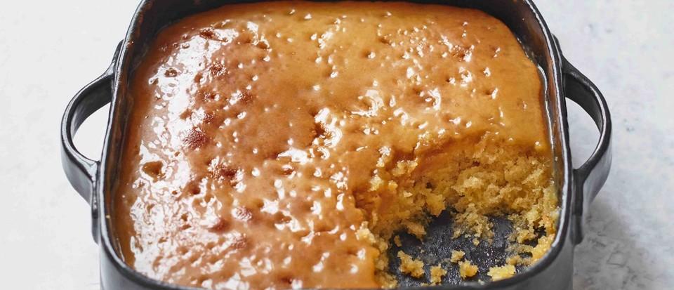 Oven-baked treacle sponge