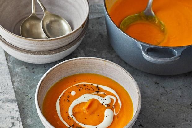 Soupe à l'orange et aux carottes