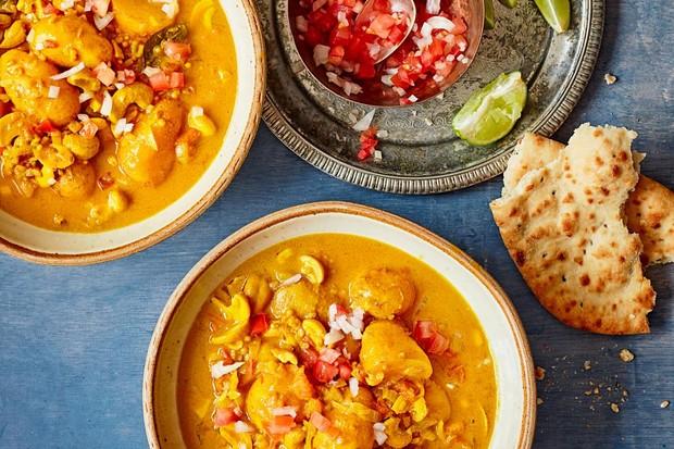 Sri Lankan cashew and potato curry