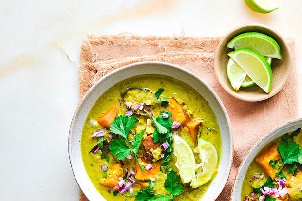 Curry de patates douces et lentilles