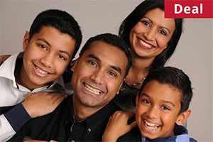 Family portrait from Barrett & Coe