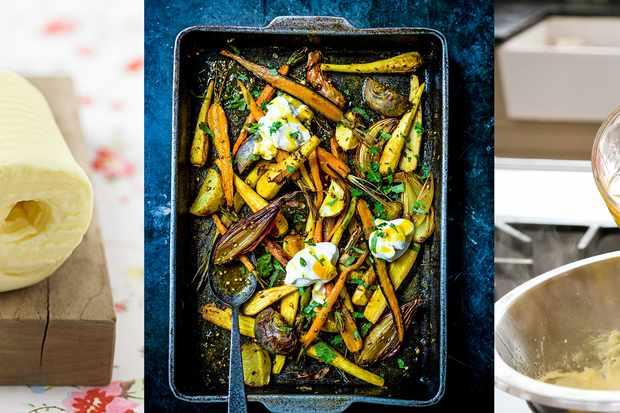 Beurre et légumes rôtis