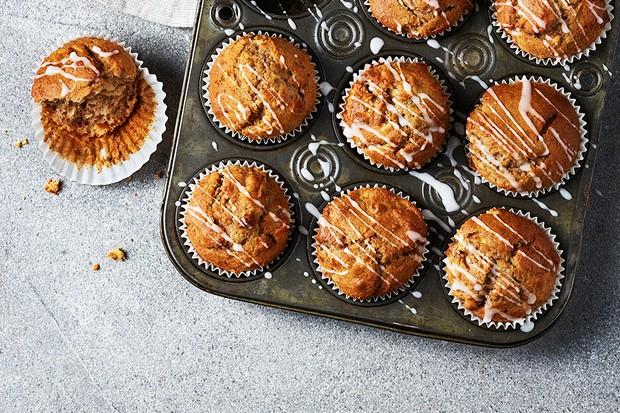 A batch of muffins in a muffin tin