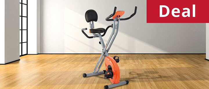 BodyFit Folding Magnetic Exercise Bike