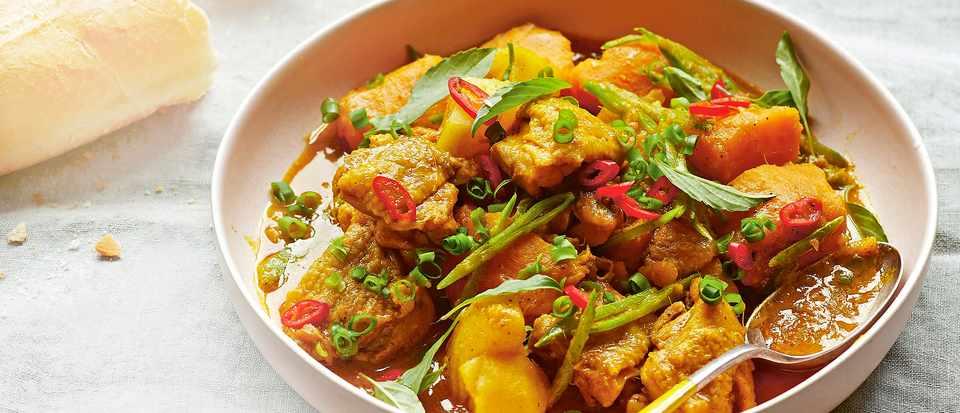 Vietnamese chicken curry (cà ri gà bí)