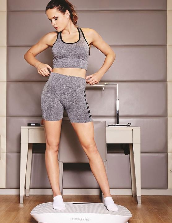 Maxburn Fitness Plate Pro II (female - standing on product)