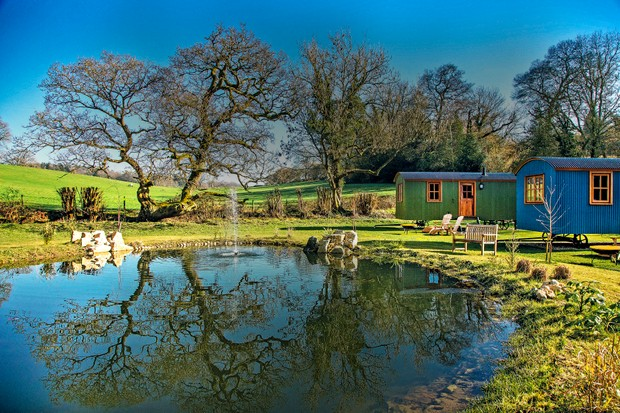 The Shepherd Huts at The Merry Harriers