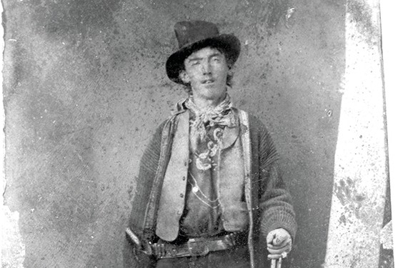 This is the first confirmed image of Henry Antrim, otherwise known as 'Billy the Kid' - bought at an auction for $2.3 million dollars by businessman William Koch