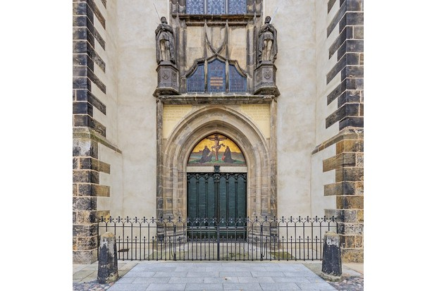 The door of All Saints' Church in Wittenberg, upon which Luther supposedly nailed his 95 Theses