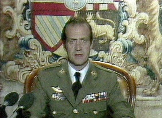 Juan Carlos addresses the Spanish people in the early hours of 24 February 1981