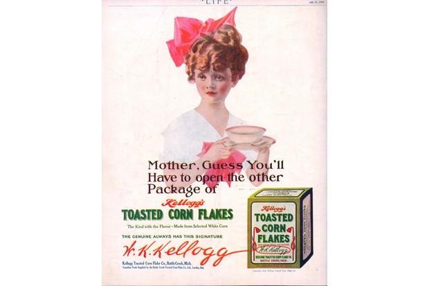 Advertisement for Kellog's Corn Flakes