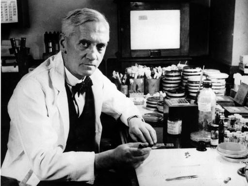 Alexander Fleming, who discovered Penicillin (Public Domain)