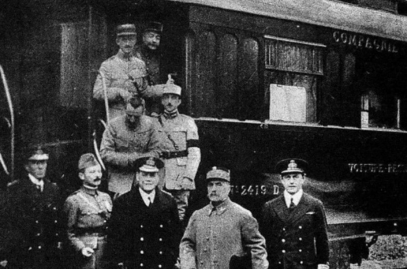 Where was the Armistice signed? (public domain)