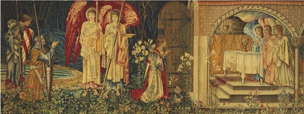 This vast Victorian tapestry, named 'The Achievement of the Grail' measures 2.4 metres high by nearly 7 metres long. It is currently on display in the Birmingham Museum and Art Gallery. © BAL