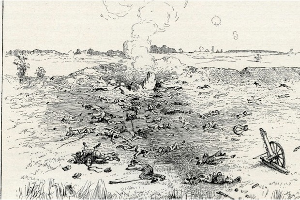 The Battle of the Crater, fought in July 1864 during the American Civil War © Getty Images