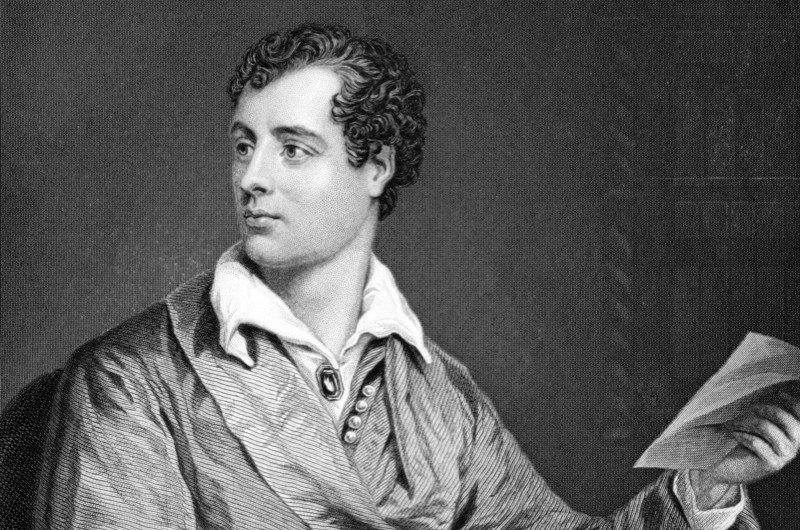 What pet did Lord Byron keep at Cambridge University? (public domain)